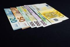 Bakgrund av pengarna Euro och dollar Royaltyfria Bilder