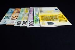 Bakgrund av pengarna Euro och dollar Arkivbilder