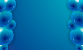 Bakgrund av popet-upp sväller med utrymme för text i blått Royaltyfri Fotografi