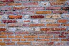 Bakgrund av röd textur för tegelstenvägg Arkivfoton