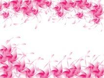 Bakgrund av rosa färgblomman Royaltyfri Fotografi