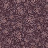 Bakgrund av rosor Arkivbild