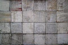 Bakgrund av rostmetallväggen Royaltyfria Foton
