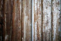 Bakgrund av Rusted metallväggen, tappningtextur Royaltyfri Foto