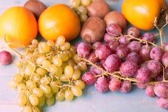 Bakgrund av saftiga frukter arkivbild