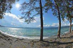 Bakgrund av sandiga stränder Arkivfoton