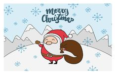 Bakgrund av Santa Claus med en säck Arkivfoto