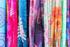 Bakgrund AV scarves Royaltyfri Fotografi