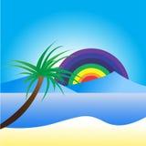Bakgrund av seascape stock illustrationer