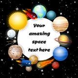 Bakgrund av solsystemet Royaltyfri Fotografi