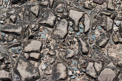 Bakgrund av stenar och kiselstenar, textur Royaltyfri Fotografi