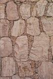 Bakgrund av stenväggen Arkivfoto