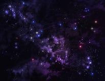 Bakgrund av stjärnahimlen Arkivbild