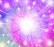 Explosionstjärnabakgrund royaltyfri illustrationer