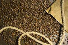 Bakgrund av svart kaffe Fotografering för Bildbyråer