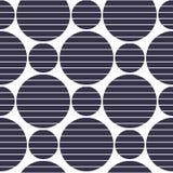 Bakgrund av svartcirklar med placerade remsor Royaltyfri Bild