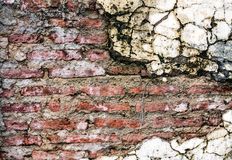 Bakgrund av tegelstenväggen Royaltyfri Fotografi