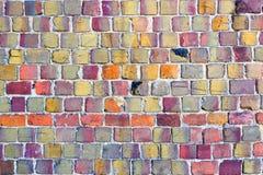 Bakgrund av tegelstenväggen Arkivfoton