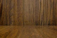 Bakgrund av trävägg- och trägolvet Royaltyfri Foto
