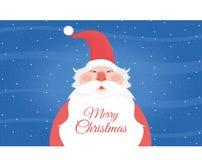 Bakgrund av trevliga Santa Claus Fotografering för Bildbyråer