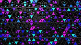 Bakgrund av trianglar stock video