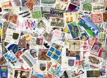 Bakgrund av tyska portostämplar Royaltyfria Bilder
