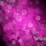 Bakgrund av unfocused rosa lampor stock illustrationer
