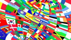 Bakgrund av världsflaggor Royaltyfri Fotografi