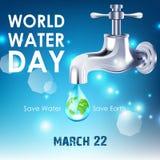 Bakgrund av världsvattendagen Royaltyfri Fotografi