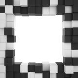Bakgrund av vit- och svartkuber Arkivfoton
