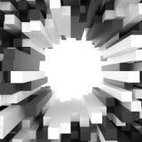 Bakgrund av vit- och svartkuber Fotografering för Bildbyråer