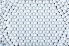 Bakgrund av vita bollar airsoft 6mm Royaltyfri Foto