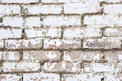 Bakgrund av vita tegelstenar Arkivfoton