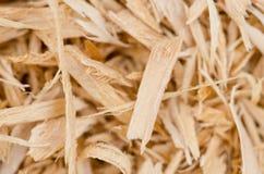 Bakgrund av wood shavings Arkivfoto