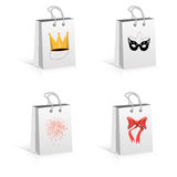 bakgrund bags paper symbolwhite för consumerism Royaltyfri Bild