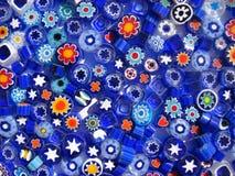 bakgrund beads blå white Royaltyfri Foto
