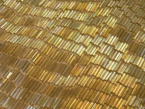bakgrund beads guld- Royaltyfri Fotografi