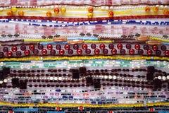bakgrund beads rader Arkivfoto