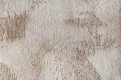 Bakgrund - beige murbruk, dekorativa väggbeläggningar Arkivbilder