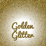 bakgrund blänker guld- Rosa guld- brusanderam Runda konfettier Royaltyfri Bild