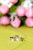 bakgrund blommar att gifta sig för cirklar Royaltyfri Bild