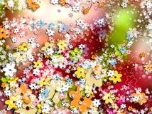 bakgrund blommar den dekorativa wallpaperen royaltyfri illustrationer