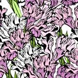bakgrund blommar den seamless irisen vektor illustrationer