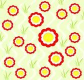 bakgrund blommar fjädern Royaltyfri Fotografi