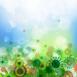 bakgrund blommar fjädern Arkivbild