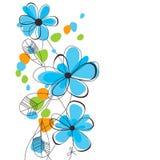 bakgrund blommar fjädern Royaltyfri Foto