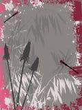 bakgrund blommar grunge Royaltyfria Bilder
