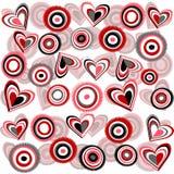 bakgrund blommar hjärtor stock illustrationer