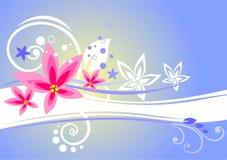 bakgrund blommar pink tre stock illustrationer