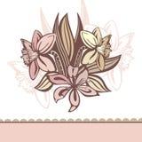 bakgrund blommar retro Royaltyfri Bild